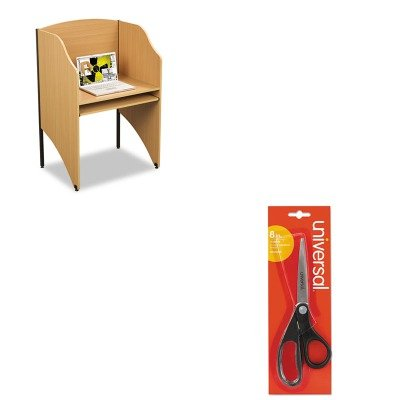 KITBLT89868UNV92009 - Value Kit - Balt Floor Carrel (BLT89868) and Universal Economy Scissors (UNV92009) (Balt Floor Carrel)