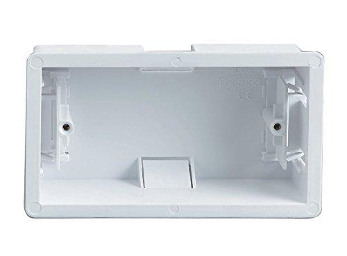 Bulk Hardware BH04529 - Caja portamecanismos empotrable de 2 ví as (45 mm de Profundidad) Bulk Hardware Limited
