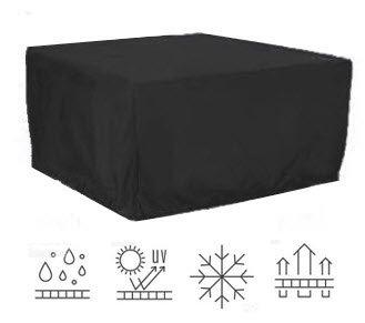 HBCOLLECTION Premium polyester telo di copertura per tavolo da esterno giardino 175x152cm