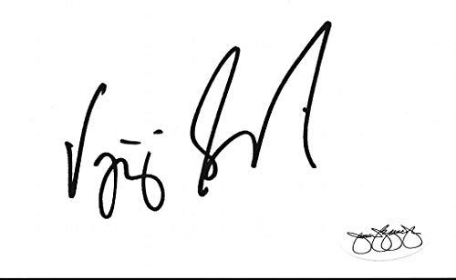 (Vijay Singh 2000 PGA Masters Tournament Champ Signed 3x5 Index Card JSA 143790)