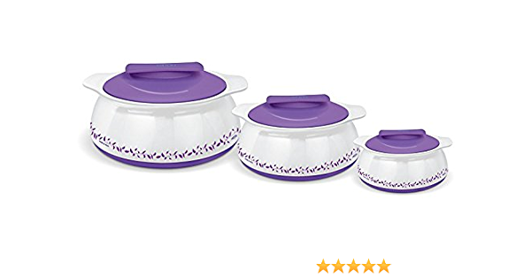3 Pcs Milton Buffet Insulated Casserole Set Table Serving Bowl Red