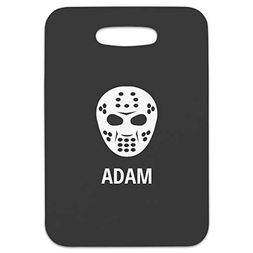 Hockey Mask Adam Bag Tag: Rectangular Luggage Tag