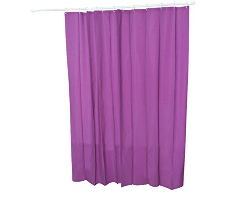 NEW SOLID WATER REPELLANT BATHROOM SHOWER CURTAIN LINER CLEAR ALL COLORS (purple) (Mickey Scale Bathroom)