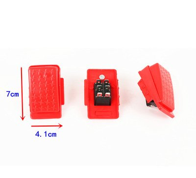 Accelerator Foot Pedal Electric Switch Accessories for Kids Ride On Toys Children Electric Ride On Toy Car Replacement Parts Red 6-pin Socket