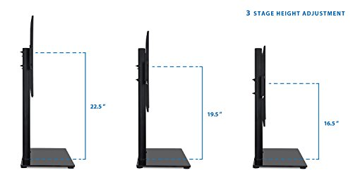 Mount It! Universal Tabletop TV Stand Mount And AV Media Glass Shelf, TV  Mount Bracket Fits 32, ...