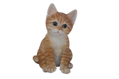 Hi-Line Gift Ltd Tabby Cat Figurine, Orange