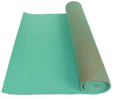 1753219b135 Amazon.com : Kakaos Natural Jute Yoga Mat (Aqua Green) : Sports ...