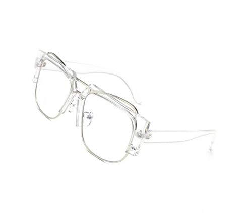 protección moda Unisex hombres de UV400 aire White para de Eyewear gafas libre viajar los al marco para gafas de medio q0ARwv
