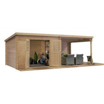 abri de jardin 28mm -18m2 en bois traité toit plat 312 x 601 ...
