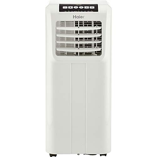 Haier QPCD05AXMW 2 Fan Speed Remote Control Portable Air Conditioner, White