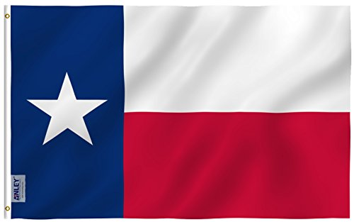 Anley |Fly Breeze| 3x5 Foot Texas State Flag - Vivid Color a