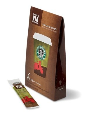 3 Box (36packets) Italian Roast Starbucks VIA Ready Brew Instant Coffee by Starbucks