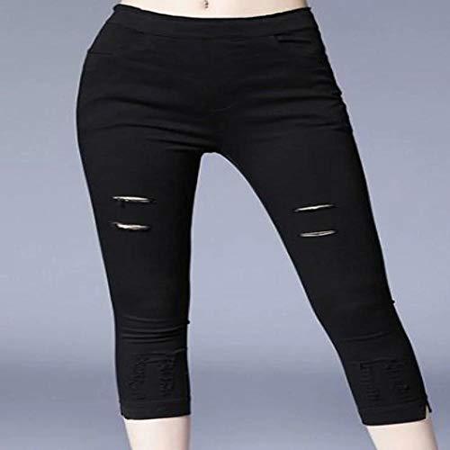 DSORO - Luxury Brands at Wholesale Prices Ripped Crop Leggings Black from DSORO - Luxury Brands at Wholesale Prices