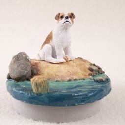 Conversation Concepts Miniature Jack Russell Terrier Brown & White w/Smooth Coat Candle Topper Tiny One