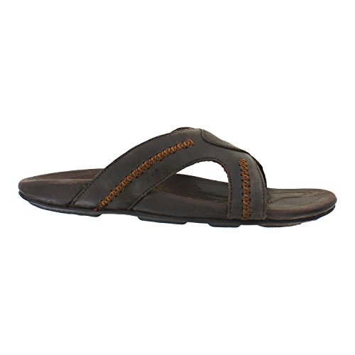 Olukai Mea Ola Slide Sandal - Men's Dark Java/Dark Java - Company Olas The Las