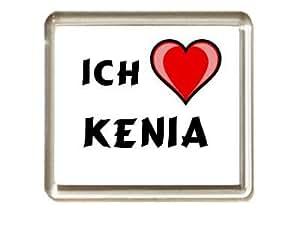 "Iman de nevera con estampado ""Te quiero"" Kenia (nombre de pila/apellido/apodo)"