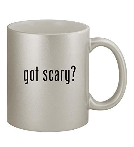 got scary? - 11oz Silver Sturdy Ceramic Coffee Cup Mug -
