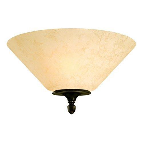- Westinghouse Lighting 69017 Hearthstone Two-Light Flush Mount Fixture, Burnished Bronze Patina Finish with Burnt Scavo Globe
