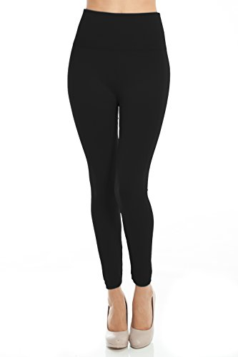 - 31kDK7JrjcL - VIV Collection Fleece Lined Warm Winter High Waist Leggings Tights Regular and Plus Size