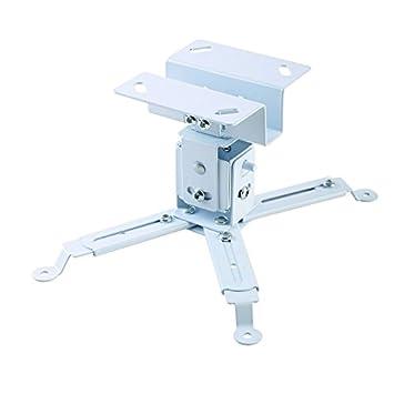 Iggual STP01 - Soporte Proyector Techo de Color Blanco para Distancia Agujeros de 370 mm MAX hasta 25 Kilos