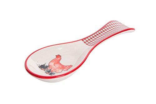 Ceramic Hen Spoon Rest, 9.84