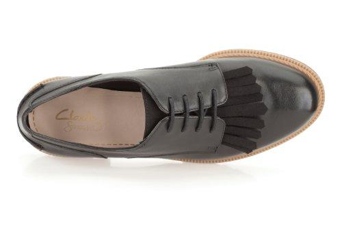 Clarks Griffin Mabel, Zapatos de Cordones Derby para Mujer negro