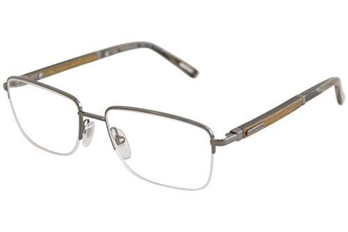 (Chopard Eyeglasses VCHB75V VCHB/75/V 568L Shiny Gunmetal/Wood Optical Frame 56mm)