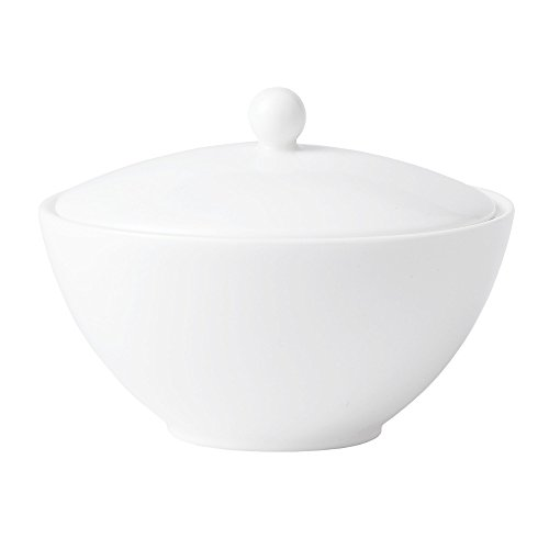Jasper Conran by Wedgwood White Bone China Covered (Fine China Covered Sugar Bowl)