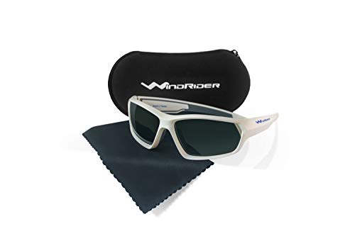 WindRider Floaterz Polarized Floating Sunglasses for Men Designed for Fishing, Sailing, All Water Sports. Lightweight, Comfortable (White, ()