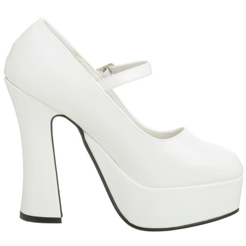 Demonia DOLLY-50 Damen Plateau Pumps Weiß (Weiss  (Wht Pat))