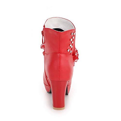 1to9 in rossa per donna Piattaforma Mns02780 pelle rawrp