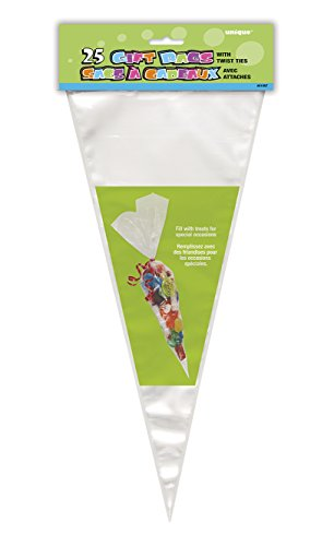 Clear Cone Cellophane Bags, 25ct