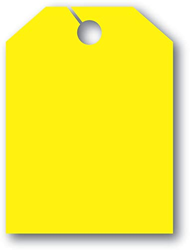 Mirror Hang Tags - Fl Yellow - Blank Without Border - 8 1/2ʺW x 11 1/2ʺL - Pack of - Parking Blanks Sign