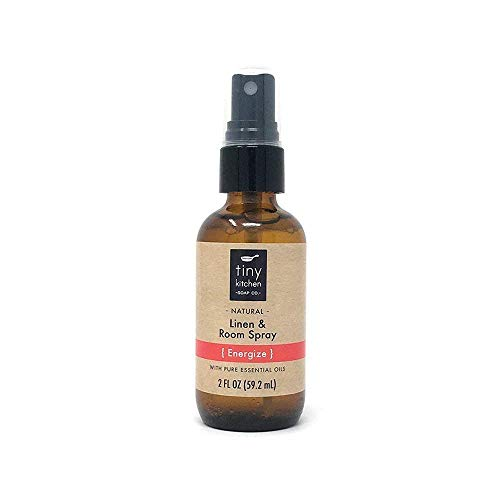 Energize Essential Oil Linen and Room Spray - Handmade Natural Aromatherapy Air Freshener (2 oz)