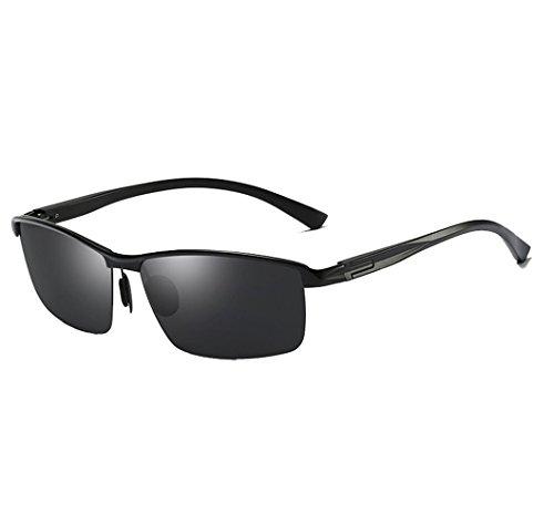 Arctic star sunglasses Polarized aluminum magnesium driving sunglasses (Black ()