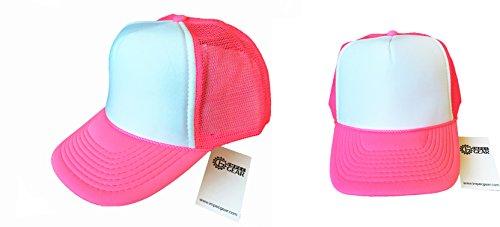 2 Packs Neon Baseball Caps Blank Trucker Hats Summer Mesh Bachelorette Cap