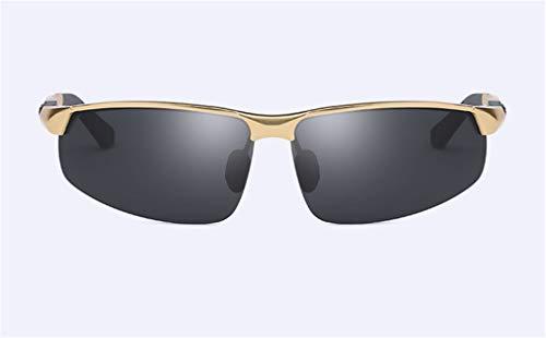 Al la Polarized de Sport Personalidad Ultra Sol Light MG Frame Metal Gafas Gold Moda Hombres XIYANG de Black Conducción q8PznXw
