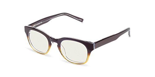 Reading Glasses - Iris Blue Light Blocking Computer and Gamer Glasses for Men and Women with Acetate Frames, CR39 lenses - FDA and CE Approved - Magnification Strength 0 to - Lite Iris