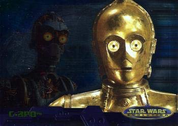2001 Topps Star Wars Evolution #3A C-3PO trading card NM