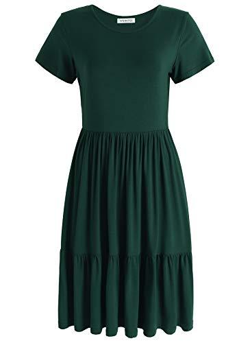 Weintee Women's Swing Casual Dress Tiered Knee Length Dress 2X -