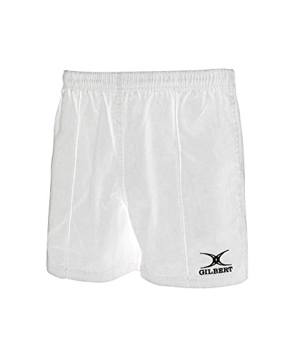 (Gilbert Kiwi Pro Youth Rugby Short (White) WHITE)