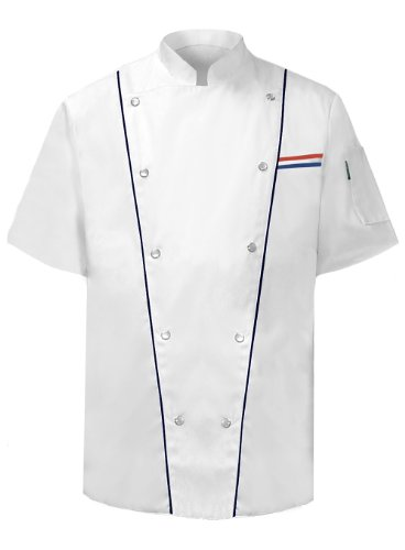 Jacket Executive Chefs (Newchef Fashion Executive Chef Jacket Male Short Sleeves S White)