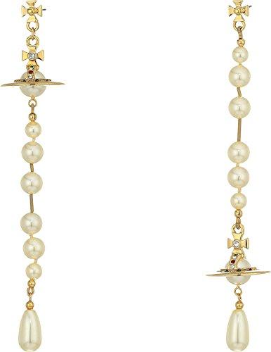 Vivienne Westwood Women's Broken Pearl Earrings Crystal/Siam/Montana One ()