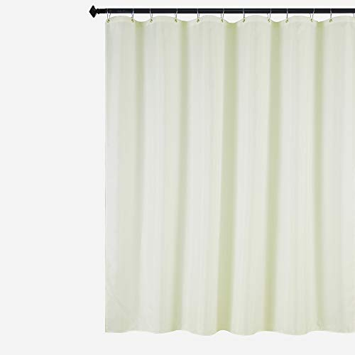 Biscaynebay Fabric Shower Curtain Liner, Water Resistant Bathroom Curtain Liner, 72 X 72, Ivory