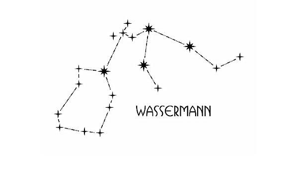 Pared Tattoo Cargar WANDTATTOO – Constelación – Acuario: Amazon.es ...