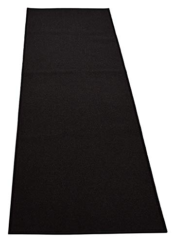 Custom Size Solid Black Roll Runner 36 in Wide x Your Length Choice Slip Resistant Rubber Back Area Rugs and Runners (Black, 8 ft x 36 in) (Custom Roll Runner)