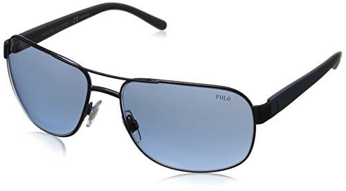 Polo Ralph Lauren Men's 0PH3093 Square Sunglasses, Mat Blue,Gradient,Blue,Blue & Matte Grey, 62 - P Sunglasses Ralph