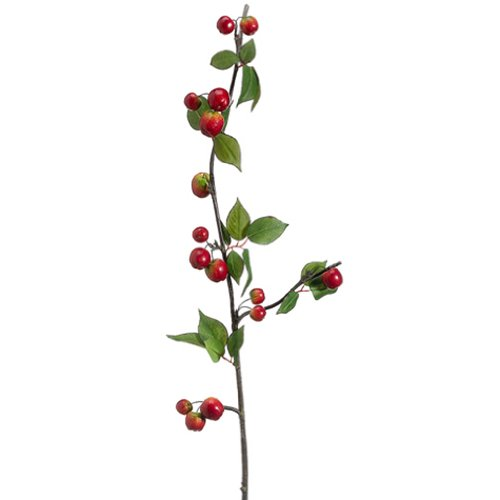 40'' Artificial Crabapple Spray -Red (pack of 12) by SilksAreForever