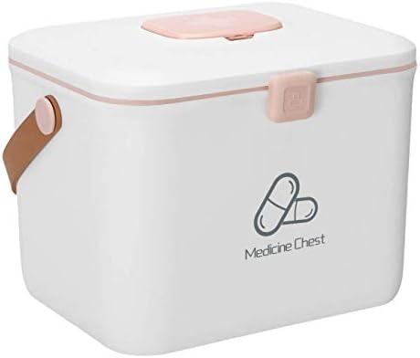 Kit di Pronto soccorso Medizin-Speicher-Box Container Tragbare Erste-Hilfe-Kit Aufbewahrungsbox Familie Medizin-Schrank Haushaltsapotheke Pille Aufbewahrungsbox Organizer Größe 31x24x21cm