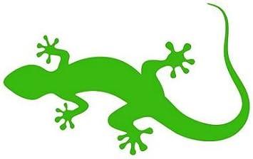 Fahnenmax Autoaufkleber Sticker Lizard Eidechse Grün Aufkleber Auto